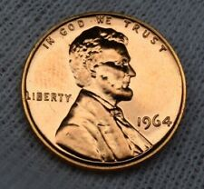 USA 1964 Lincoln Memorial Proof Penny 1 cent