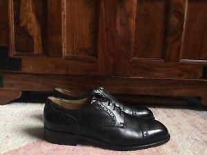 Bally Black Leather Dress Brogue Oxford Shoes Size 9.5UK