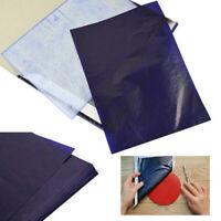 100 Blatt A5 Dunkelblauer Carbon-Handschablonen-Transferpapier#