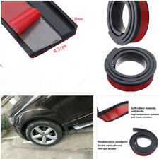 2X4.5cm/1.5M Widening Car Fender Flare Extension Wheel Eyebrow Rubber Trim Black