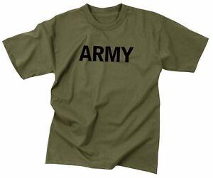Rothco Army Military Training T-Shirt, Olive Drab, Mens Sizes M - 2XL