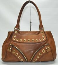 Cole Haan Saddle Tan Leather Boho Zip To Satchel Tote Purse