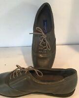 Easy Spirit Shoes Anti-Gravity Grey Leather Oxford Sneaker Shoe Size 9.5
