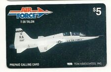 VINTAGE TCM PREPAID CALLING CARD   AIR FORCE T-38 TALON  $5 CARD