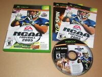 NCAA Football 2005 / Top Spin for Microsoft Xbox Complete Fast Shipping