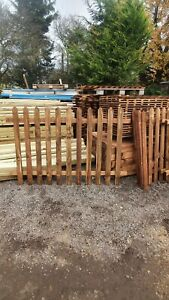 Picket Garden Fence panels POINT Top 1830mm x 1200mm 4ft