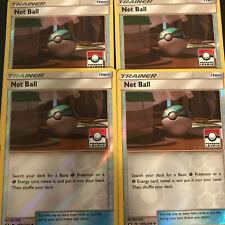 4x Net Ball 187a/214 League Promo Pokemon - Nm