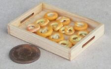 1:12 Scale 12 Loose Pretzels On Wooden Tray Tumdee Dolls House Bakery Bread