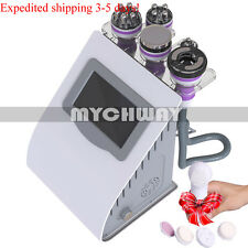 5 in 1 Cellulite Machine Tripolar RF Face Body Contour Ultrasonic Cavitation spa