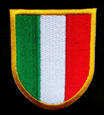 ITALY ITALIA ITALIAN NATIONAL FLAG Embroidere​d Iron on Patch Free Shipping