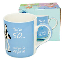 """Happy Birthday Blue Mug -  With Message """"You're 50 ... and you've still got it!"""""""