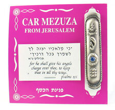 Car Mezuzah with blue stone Mezuza