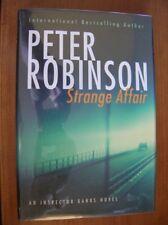 Peter Robinson Strange Affair SIGNED 1st Canadian HC ed