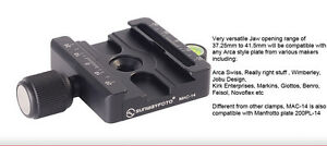 Sunwayfoto MAC-14 60mm Adapter Clamp Arca Swiss Manfrotto 200PL Compatible