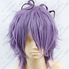 291 IB GARRY Purple mix Short Cosplay Wig free wig cap