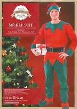NEW MANS ADULT MR ELF SUIT ROBE XMAS COSTUME FANCY DRESS CHRISTMAS OUTFIT SETS