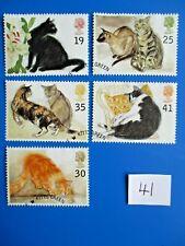 1995 Gb Commemoratives: Cats,  ex-fdc,  (SG1848-52)  #41