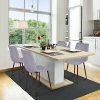 Dining Chairs set of 4pcs Kitchen Modern Chair Linen Dining Side Set of Chairs A