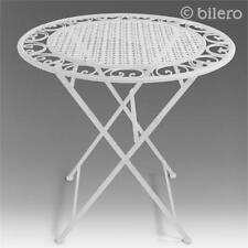 Garden Table Antique Nostalgia Galvanized Metal Garden Table Height 75CM White