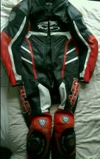 ARLEN Ness Red One Piece MOTO Leathers Suit, grande, RACE GOBBA