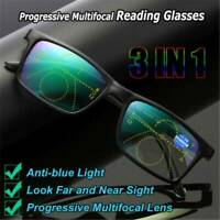 Multifocal Len Anti-blue Light Reading Glasses Progressive Presbyopia Eyeglasses
