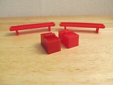 1/64 Ertl Farm Country red cattle troughs and waterers lot custom train display