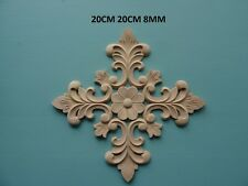 Decorative wooden large center applique furniture moulding onlay F122