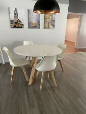 domayne furniture Morrison 5 Piece Dining Table White RRP $899