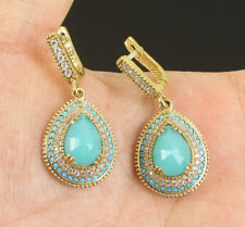 Sublime Brazil Aquamarine  925 Sterling Silver Earrings