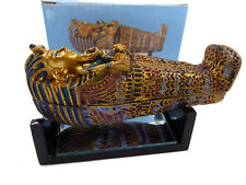 King Tut sarcophagus Coffin, Mummy Statue with Stand