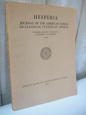 HESPERIA journal of classical studies at Athens 1968 n°4