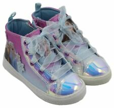 Disney Frozen 2 Youth Girls Elsa Anna Holographic High-Top Sneakers Shoes Sz 12