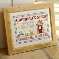 Historical Sampler Company - Grandads Shed Cross Stitch Chart