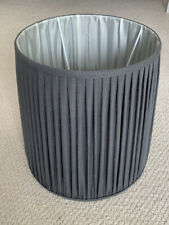 Loaf handmade graphite pleated linen lamp shade