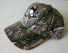 PITTSBURGH PENGUINS NHL HOCKEY 47 BRAND CAMO ADJUSTABLE BALL CAP HAT - NEW