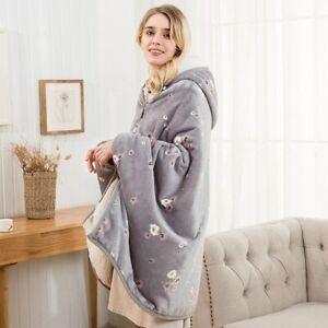 Flannel Blanket Hoodie TV Travel Totoro Kids Warm Fleece Coats Hooded High Quali