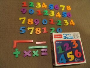 MAGNETIC NUMBERS Vintage Playskool with box complete 1984 Edition