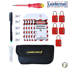 Leaderman 28 Piece Lock out off Kit With Metal MCB Case and Pen LMLOK5R
