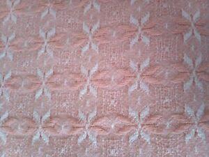 Vintage 70s pink bedspread throw fringe