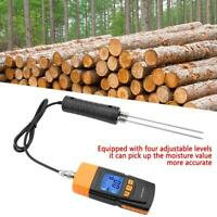 GM620 LCD Display Digital Adjustable Wood Moisture Tester with 160mm Probe WT