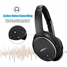 Active Noise Cancelling Bluetooth Wireless Headphone w/ Built-in Mic Over Ear