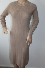 PURE COLLECTION LADIES FAB CABLE KNIT JUMPER DRESS WOOL / CASHMERE BEIGE SIZE 12