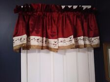 Sunham Bedding Formal Valance Floral Embroidery Wine Gold 22x54 (4 Available)