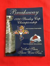 1996 NHL Stanley Cup Final program / Colorado Avalanche-Florida Panthers / Roy