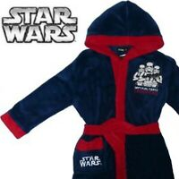 Fleece Dressing Gown Size 3Y Star Wars Imperial Force Night Lounge Boys Blue