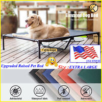 VEEHOO Elevated Dog Cat Beds Pet Cots EXTRA LARGE Cooling Raised Lounger Hammock