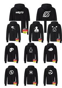 Hoodie Naruto Motiven Logos. Anime Cosplay Manga, Kapuzen Pullover, Unisex Pulli