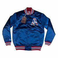 New England Patriots NFL Mitchell & Ness Throwback Satin Jacket Men's M L XL 2XL