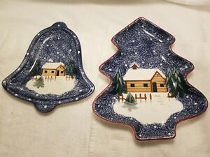The Cook's Bazaar Christmas Bell Plate & Mountain Lodge Serving Tray