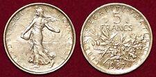 FRANCE 5 francs 1967 silver